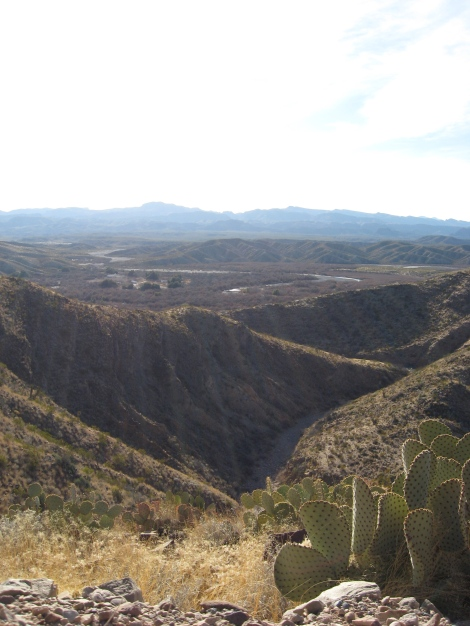 view toward river