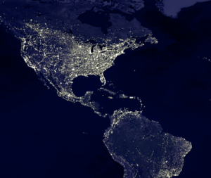 americas at night