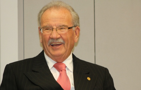 Hardberger was all smiles at the Council's B Session, as details of Mission Verde began to trickle out.