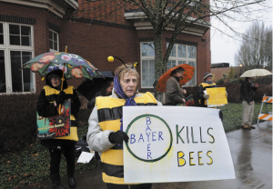 bee bayer protest