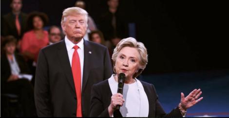 Trump behind Clinton