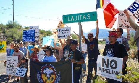 protest at Lajitas