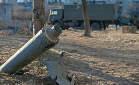 Shell in Debaltseve, Eastern Ukraine